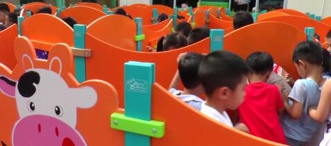 摇摇马橙蓝护栏板设计迷宫