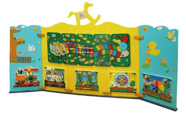 幼儿大型墙面玩具-摇摇马屏风背景墙墙面玩具